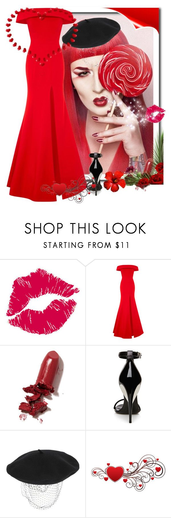"""""""Serious Red"""" by jaymagic ❤ liked on Polyvore featuring BRIT*, Rachel Gilbert, LAQA & Co., La Perla and Silver Spoon Attire"""