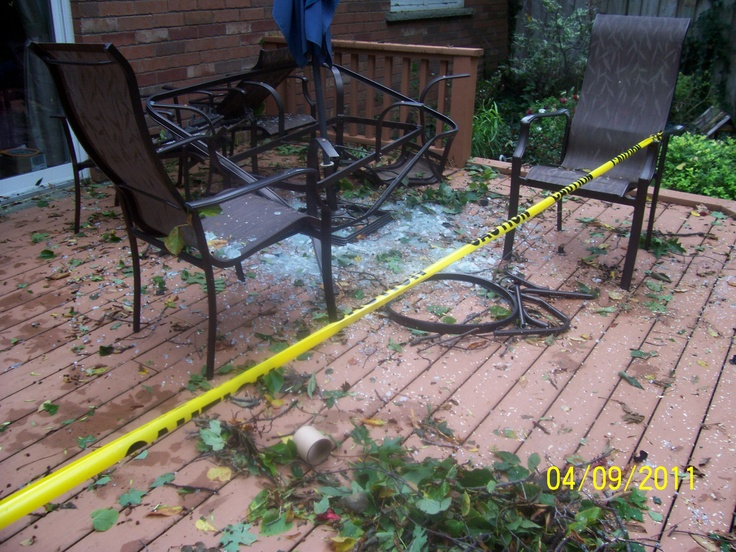When Thunder storm hit Kitchener badly in 2011, Five Star Flood, Fire and Trauma Emergency Clean up company was there, Pictures taken by Bob www.5starcleaning.ca