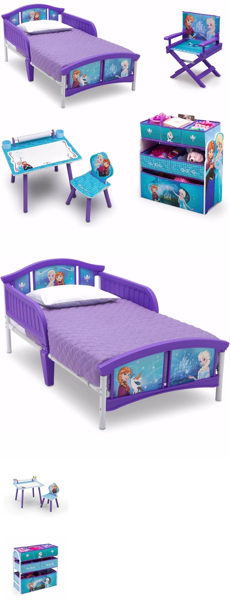 Kids at Home: Cheap Bedroom Sets Kids Elsa From Frozen For Girls Toddler Beds Furniture Bonus BUY IT NOW ONLY: $152.82