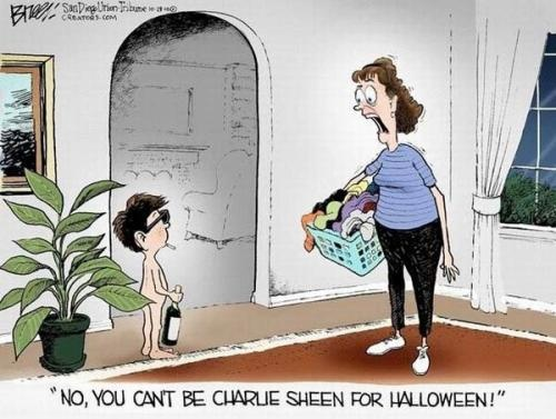No, you can't be Charly Sheen for Halloween!