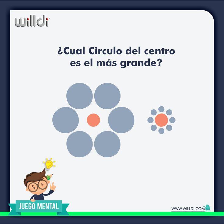 ¿Ilusión óptica o realidad? Cual de los dos círculos color naranja es más grande? Recuerda que los ejercicios mentales mejoran la memoria, la habilidad para resolver problemas y la concentración.