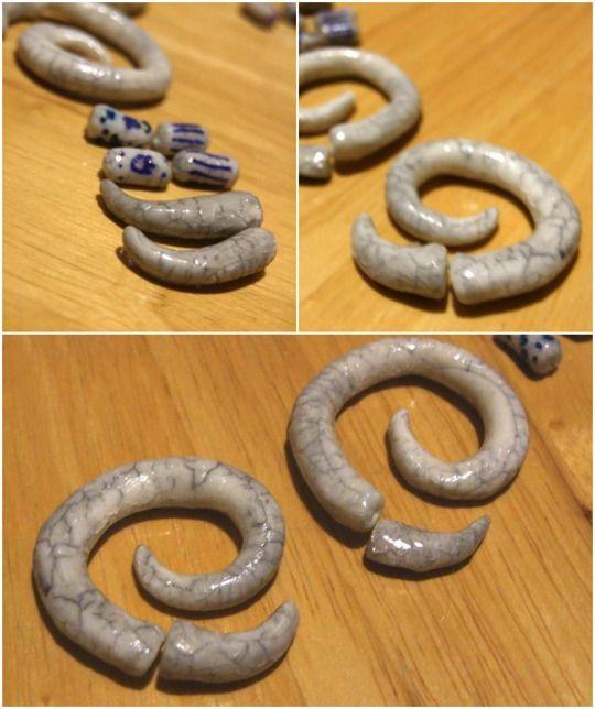 Repedezett hideg porcelán levegőn száradó gyurma felület készítése