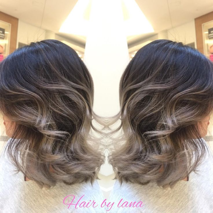 """""""Here again , grey Ombre  work with short hair.  Natural  sunlights exfect  For Oct and Nov app pls text : 604 377 2746 Lana  #beautifinder #guytang…"""""""