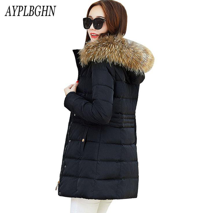 Snow wear wadded jacket female 2017 Plus size winter jacket women slim Long cotton-padded jacket outerwear winter coat women #Affiliate