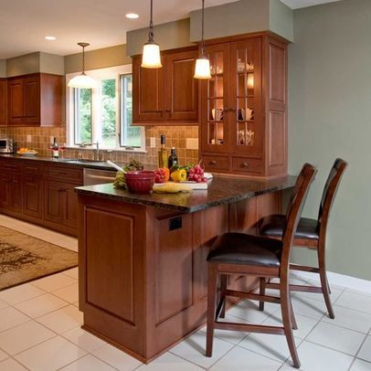 Kitchen Photos Kitchen Peninsula Design, Pictures, Remodel, Decor and Ideas - page 3