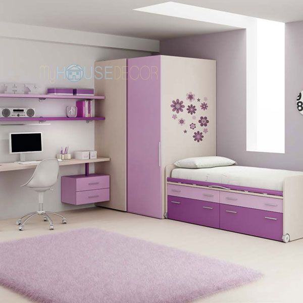 Beautiful Purple Kids Bedroom Furniture   Start Solution By Moretti Compact