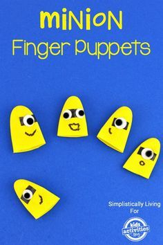 So cute! Your kids will love making these Minion finger puppets and they're so easy.