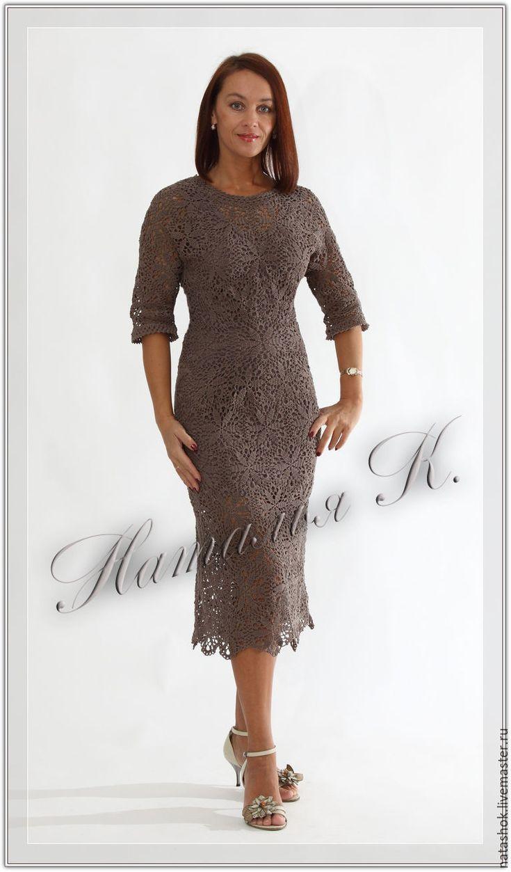 Купить Воздушный Шоколад - коричневый, шоколад, платье, Платье нарядное, платье летнее, платье вязаное