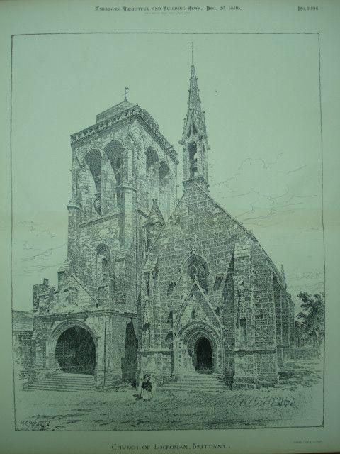 Eglise St Ronan Locronan 1896 Artiste non identifié