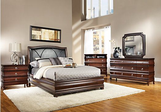 Shop For A Alexi King Dark Cherry 5pc Panel Bedroom At