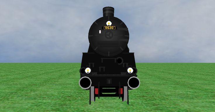 JNR 9600 steam loco frontview