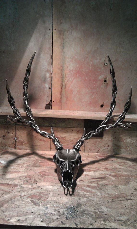Metal Deer sculpture by Dsrve on Etsy