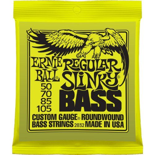 Ernie Ball 2832 Regular Slinky Nickel Wound Bass Set (50 - 105) - http://www.rekomande.com/ernie-ball-2832-regular-slinky-nickel-wound-bass-set-50-105/