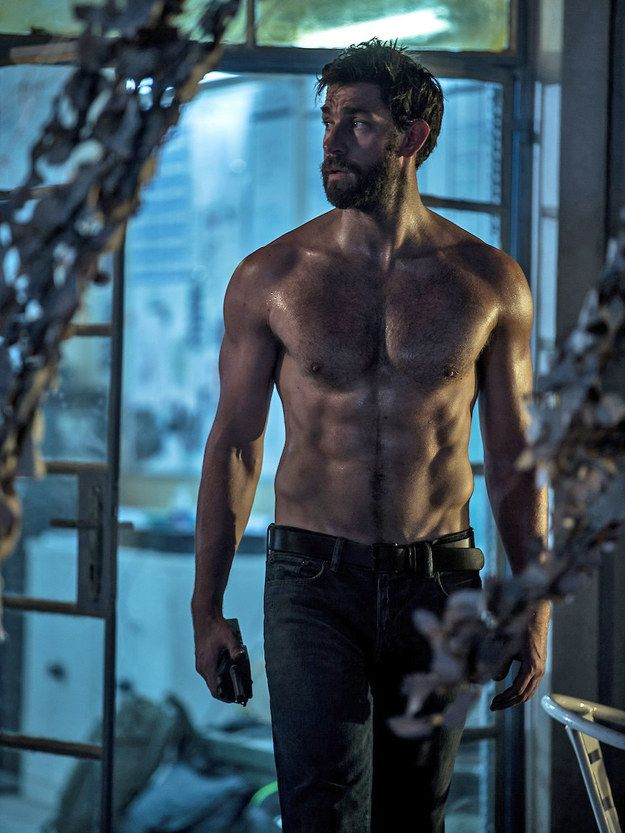 O. M. G.   Here's The First Image Of John Krasinski's New Buff Body Totally Shirtless