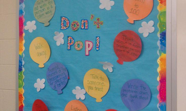 Don't Pop - School Counselor Bulletin Board