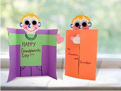 grandparents day crafts | Home > Crafts + Activities > Creative projects > Grandparents Day Card ...