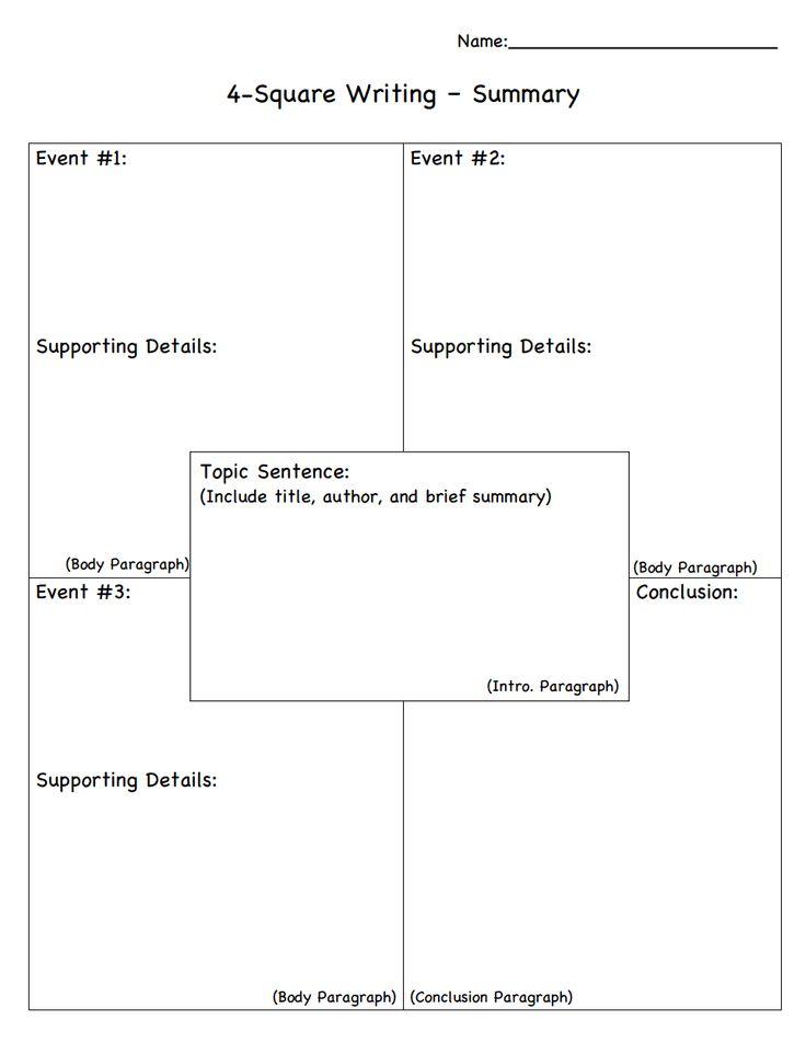 4 Square Writing Summary