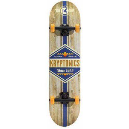 Kryptonics Recruit Complete Skateboard, Multicolor