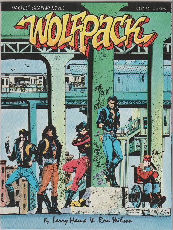 Marvel Graphic Novel V1 31 Wolfpack.  NM.  by RubbersuitStudios, $6.00 #graphicnovels #comicbooks