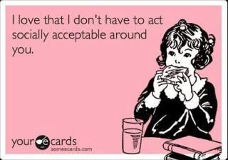 and vice versa: Socially Acceptable, My Friend, True Friendship, E Card, Quote, Bff, Funny