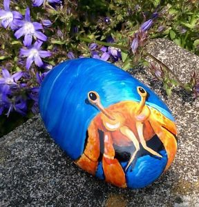 Hermit-Crab-hand-painted-rock-stone-pebble-no-crab-net-or-beach-bucket-required