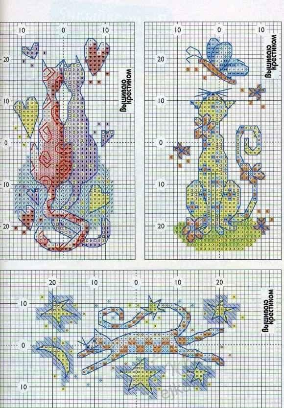 Cross Stitch - the scheme for embroidery - Males