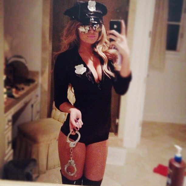 Paulina Gretzky Dressed Up As a Sexy Cop, Sexy Pirate, and Sexy deadmau5 for Halloween (Pics)