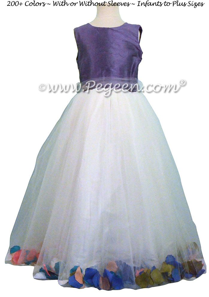 70da8ab0a67 Periwinkle Flower Girl Dresses with Petals - Style 333