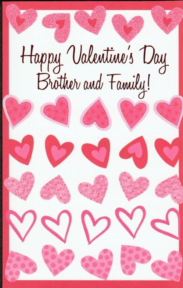 Details About Valentine S Day Greeting Card For Brother And