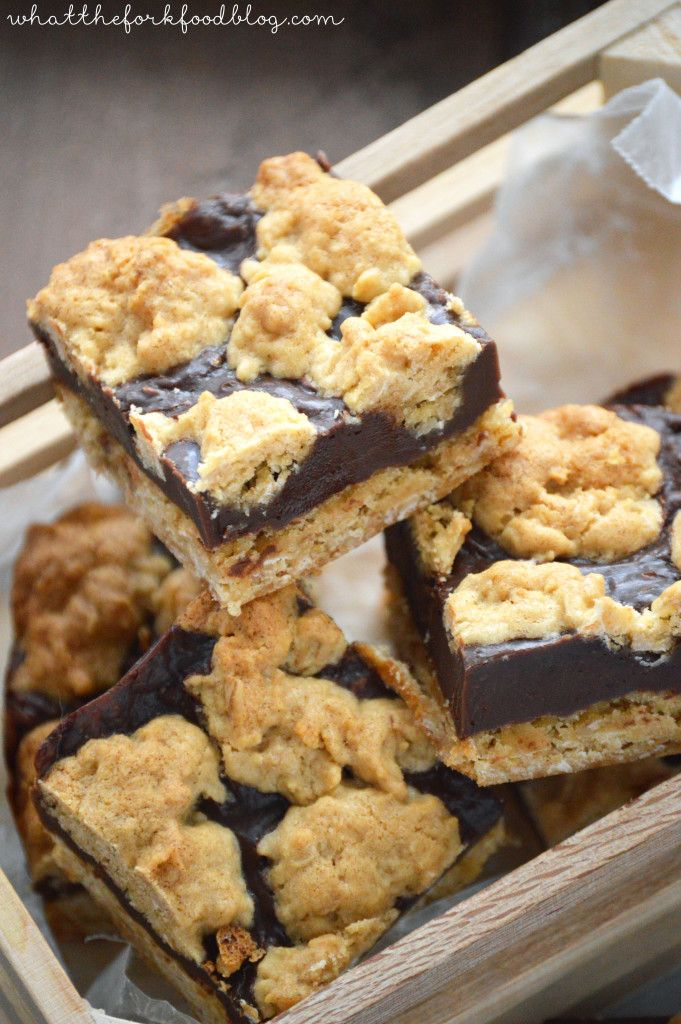 Oatmeal Fudge Bars from What The Fork Food Blog