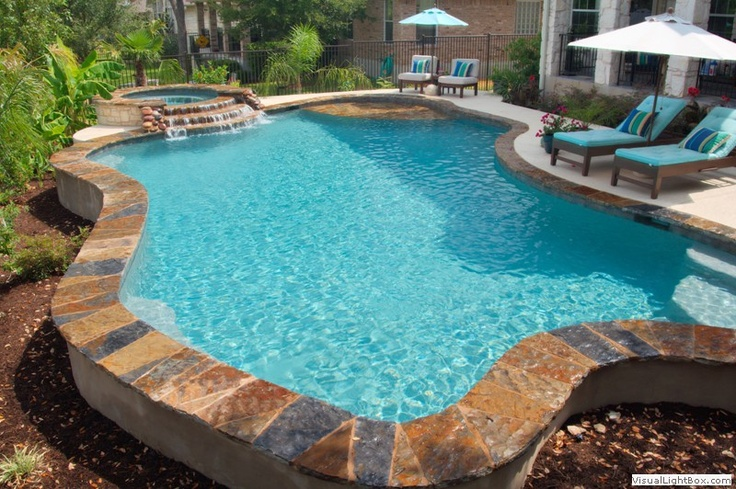 30 best images about pool on pinterest stamped concrete for Pool design katy