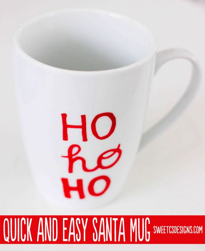 quick and easy DIY Santa mug