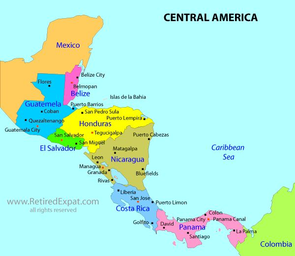 Best Central America Images On Pinterest Central America - Map of costa rica central america