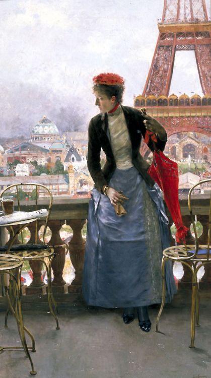 Lady at the Paris Exhibition ~ by Luis Jiménez Aranda ~ 1889 ~ France ~ Meadows Museum