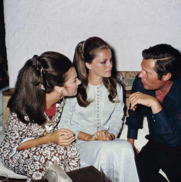 Consuelo Crespi, Virna Lisi, and Marcello Mastroianni, 1968