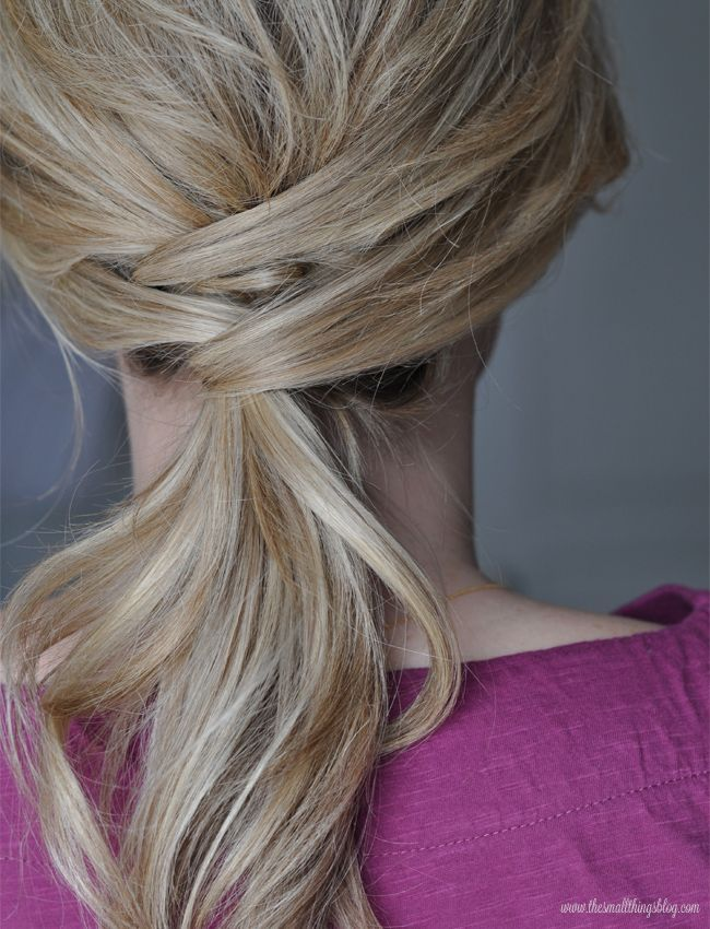 The Small Things Blog: Not Just a Ponytail Hair Tutorial ...