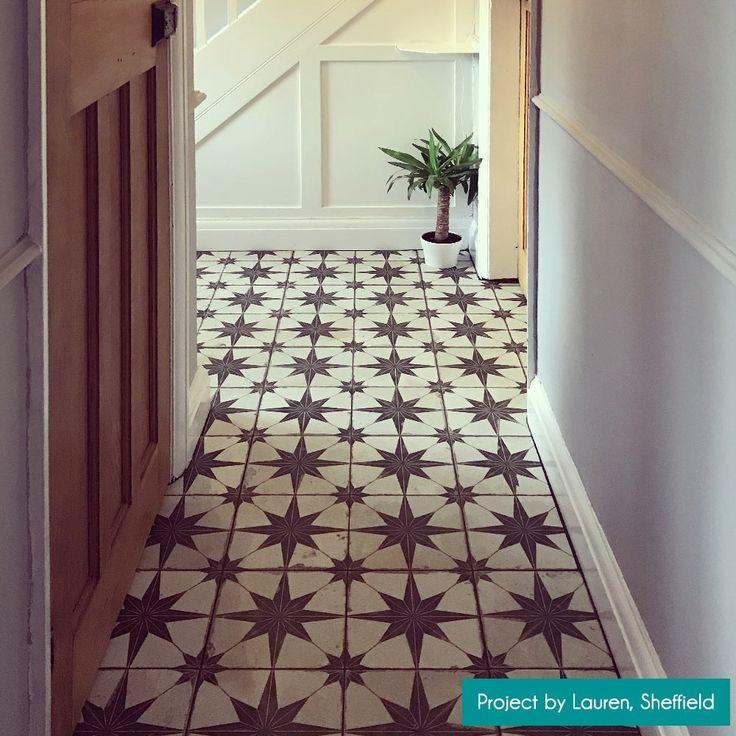 Scintilla Black Star Pattern Tiles Tile Patterns Tiled