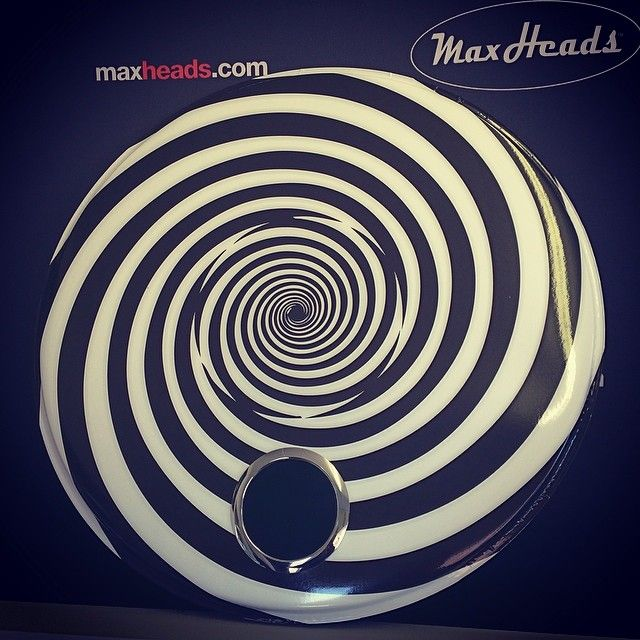 Are you hypnotized yet? Get your custom drum head today! Two of these 24 inch bad boys are shipping out today for Bryon Pachunka!
