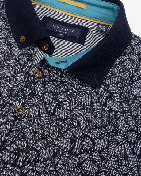Printed polo shirt - Navy | Tops & T-shirts | Ted Baker. Castelijn Fashion & Denim .