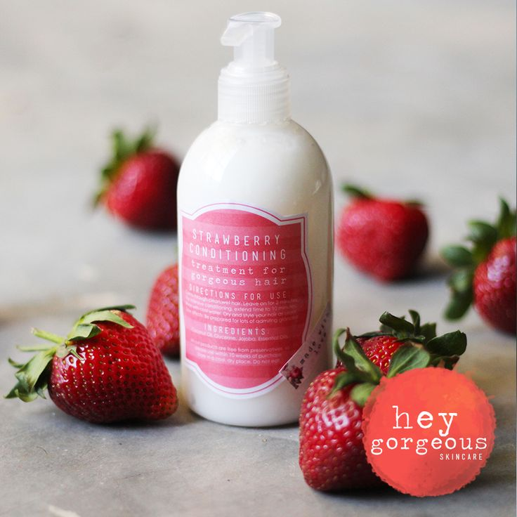 SUPER LOVELY STRAWBERRY HAIR CONDITIONING TREATMENT Strawberries are widely known as the decadent, red berry. But when it comes to your hair, they can be so much more! Strawberries are high in alpha-hydroxy acids (AHA) which helps to remove dead skin cells from the scalp. Strawberries can also add shine to your hair strands. Think of it as a fruit smoothie for your thirsty hair strands. Let your hair drink it up!