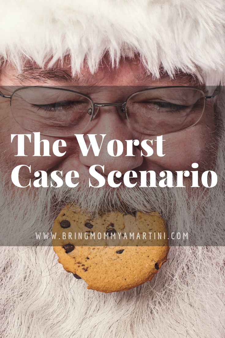 """Having """"the Santa talk"""" with the kids makes me feel like the biggest a-hole liar of a parent EVER. www.kristanbraziel.com/blog/2016/12/14/this-is-the-worst-case-scenario  #BringMommyAMartini #momblogger #parenting"""