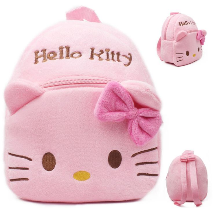 Hello Kitty school bag Cute children Hello Kitty backpack for packing toy and candy Pink Plush bag for 0-6years girls mochila