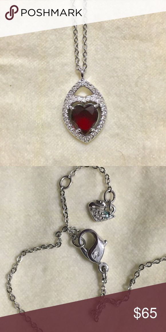 Swarovski Heart Pendant Necklace Authentic, lightly used Swarovski crystal heart pendant necklace, purchased at Swarovski. No scratches or flaws on crystal heart. Beautiful piece. Reasonable offers accepted. No holds. Swarovski Jewelry Necklaces