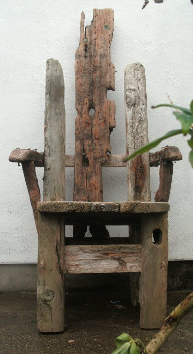 driftwood chair has potential, in it's basic shape, possibly wouldn't look as good with normal wood