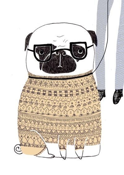 We love pugs, we love pug art! #WeLoveDogs #Pugs #Art @AnimalBehaviorC