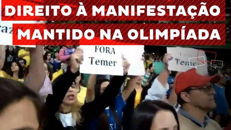 """""""Fora Temer"""" vira grito de guerra da torcida no futebol olímpico feminino"""