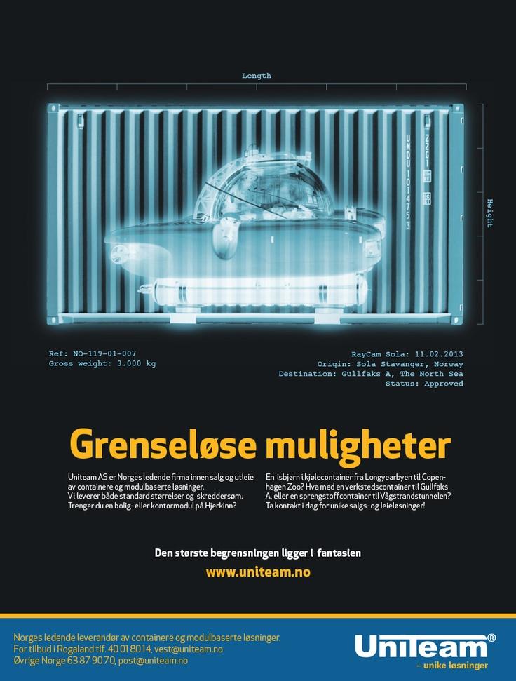 Subsea advertising for Uniteam, Norway