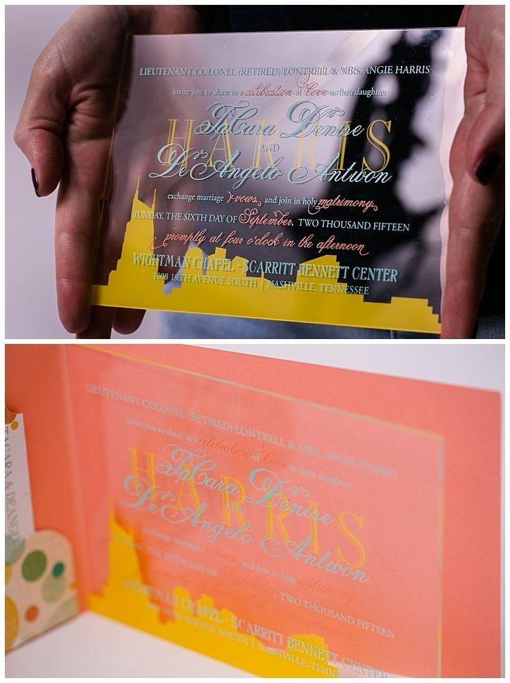 reception information on back of wedding invitation%0A Lucite Wedding Invitations