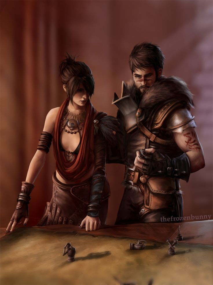 """princessvicky02: """" thefrozenbunny: """" So I've been thinking about an AU where Hawke and Morrigan stay at Skyhold together, because they want to """"help"""", but they're not helping at all but messing..."""