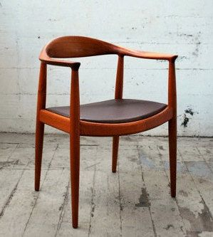 "The first chair he designed is now one of his most popular pieces called ""The Chair"". Being built in 1949, the chair automatically has Hans signature mid century design."